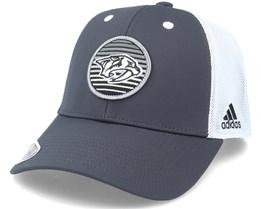 Nashville Predators Mesh Carbon/White Trucker - Adidas