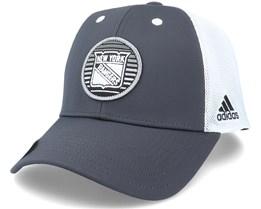 New York Rangers Mesh Carbon/White Trucker - Adidas