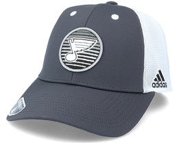 St. Louis Blues Mesh Carbon/White Trucker - Adidas