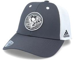 Pittsburgh Penguins Mesh Carbon/White Trucker - Adidas