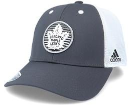 Toronto Maple Leafs Mesh Carbon/White Trucker - Adidas