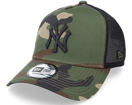 New York Yankees Clean Camo/Black Trucker - New Era
