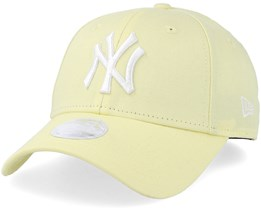 New York Yankees Women League Essential 9Forty Light Yellow/White Adjustable - New Era