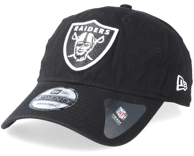 98e8452cacdf9 Oakland Raiders Washed Essential 9Twenty Black Adjustable - New Era caps -  Hatstoreaustralia.com