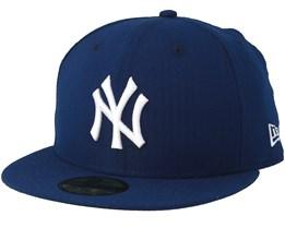 New York Yankees SeerSucker 59Fifty Navy/White Fitted - New Era