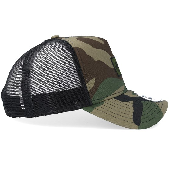 a557b48d Script Patch Camo Trucker - New Era caps | Hatstore.co.uk
