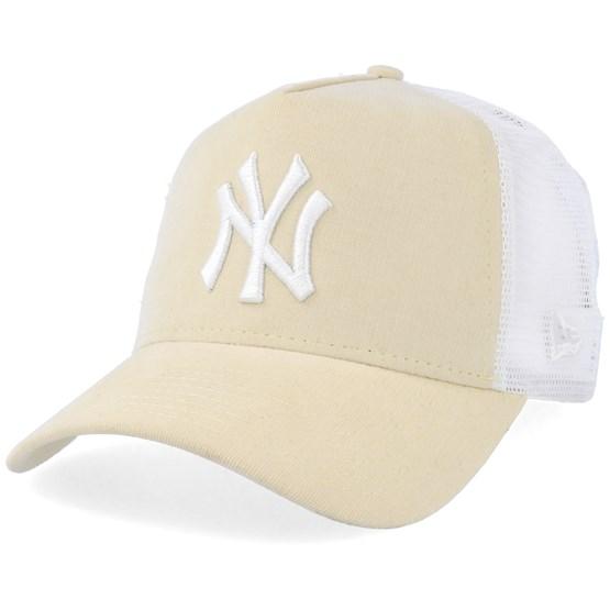 New York Yankees Micro Cord A-Frame Light Yellow White Trucker - New Era  caps - Hatstoreworld.com 8bc4f8b11ec