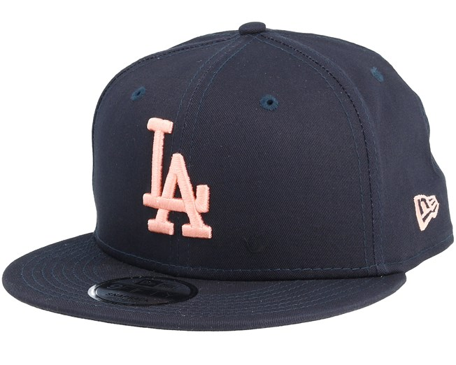 premium selection afdc1 779f8 Los Angeles Dodgers League Essential 9Fifty Navy Peach Snapback - New Era  caps - Hatstoreaustralia.com