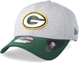 Green Bay Packers Jersey Hex 39Thirty Grey/Green Flexfit - New Era
