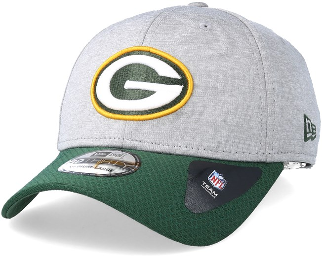 the latest b21d4 6eb1d Green Bay Packers Jersey Hex 39Thirty Grey Green Flexfit - New Era caps -  Hatstoreworld.com