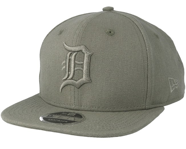 size 40 f58d5 2574a Detroit Tigers Canvas 9Fifty Olive Snapback - New Era caps -  Hatstoreworld.com