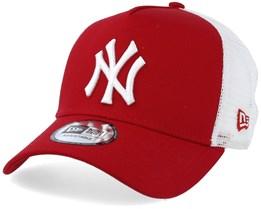 New York Yankees Clean 2 Scarlet/White Trucker - New Era