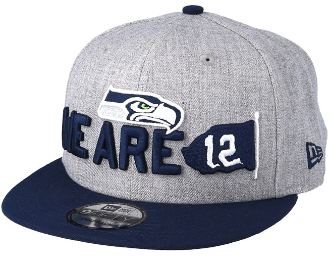 c6e481e1bb8 Seattle Seahawks 2018 NFL Draft On-Stage Grey Navy Snapback - New ...
