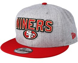 San Francisco 49ers 2018 NFL Draft On-Stage Grey/Red Snapback - New Era