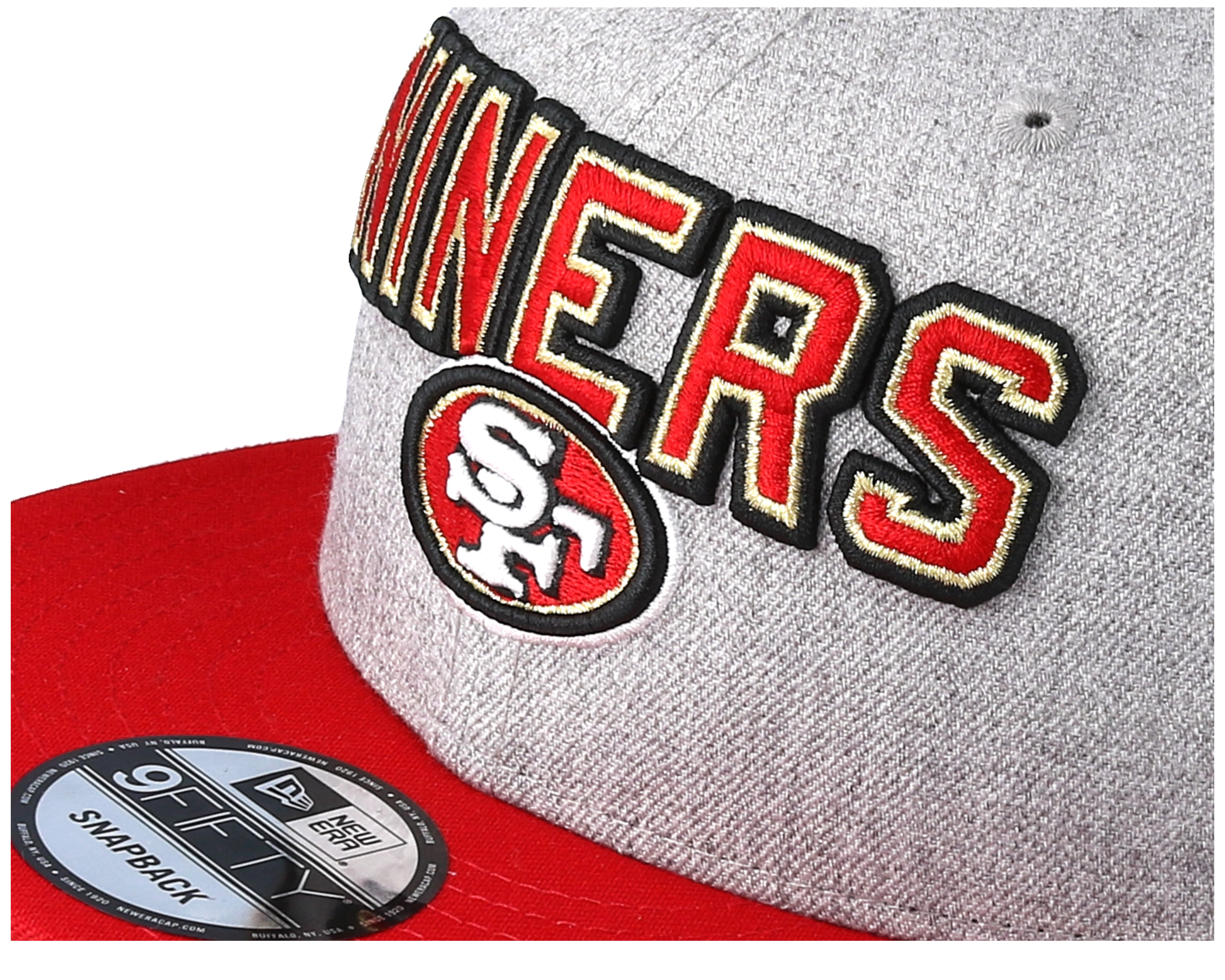 200a43ba San Francisco 49ers 2018 NFL Draft On-Stage Grey/Red Snapback - New ...