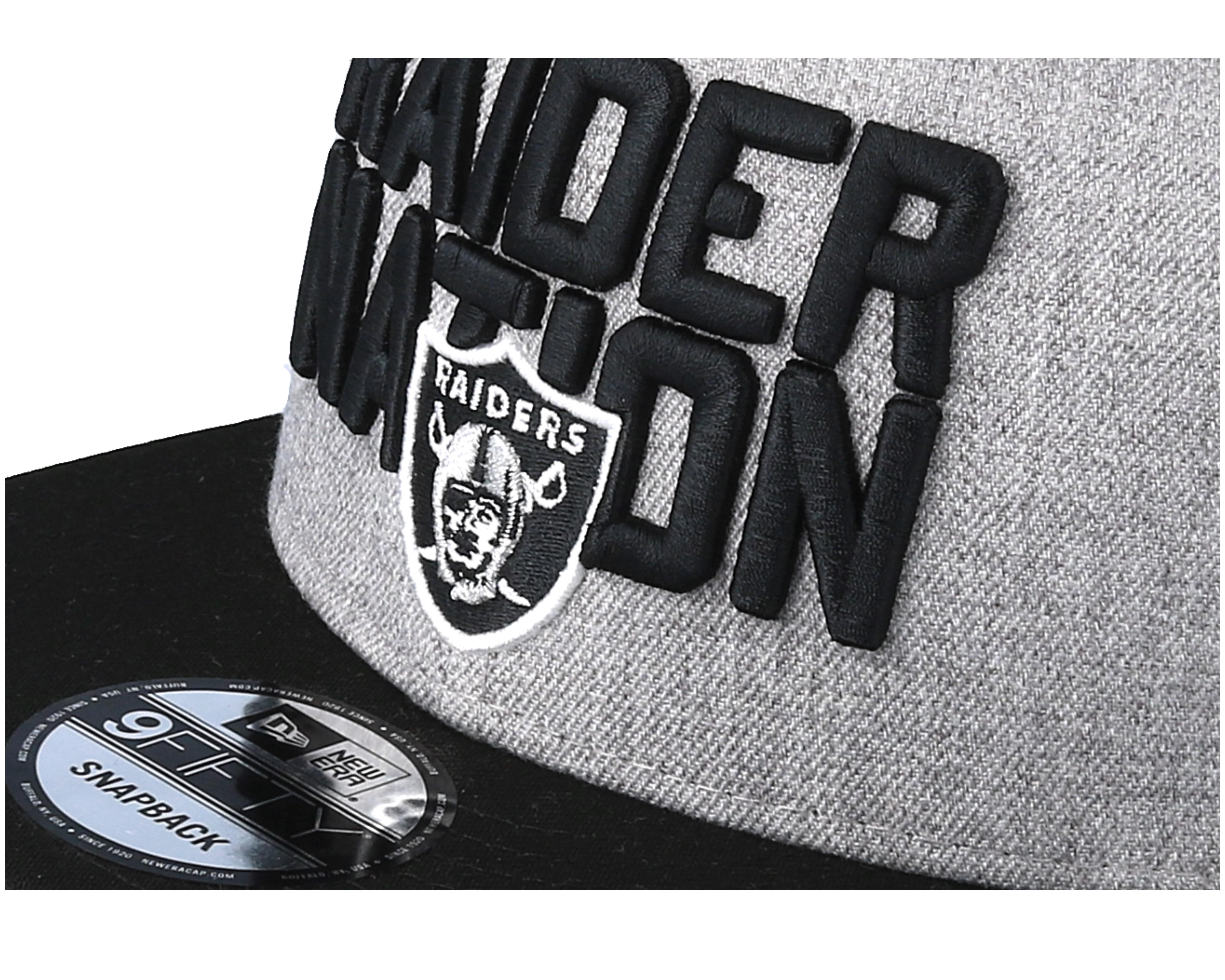 new styles 6f7d9 26482 Oakland Raiders 2018 NFL Draft On-Stage Grey Black Snapback - New ...