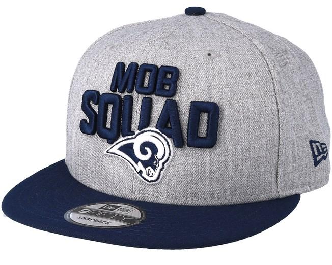 bedcf6ab0e5 Los Angeles Rams 2018 NFL Draft On-Stage Grey Navy Snapback - New ...