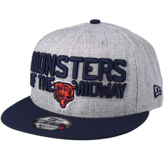 pretty nice 28f5c c2e73 Chicago Bears 2018 NFL Draft On-Stage Grey Navy Snapback - New Era caps -  Hatstoreworld.com