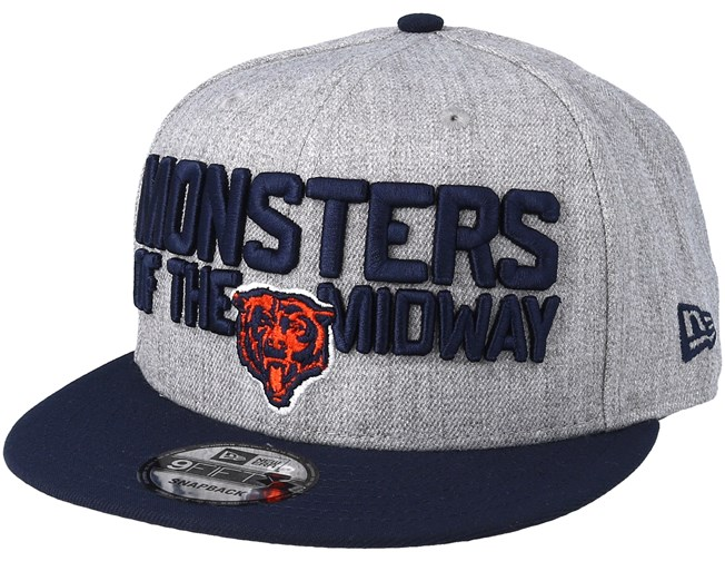 c6f529d3f89 Chicago Bears 2018 NFL Draft On-Stage Grey Navy Snapback - New Era caps -  Hatstoreworld.com