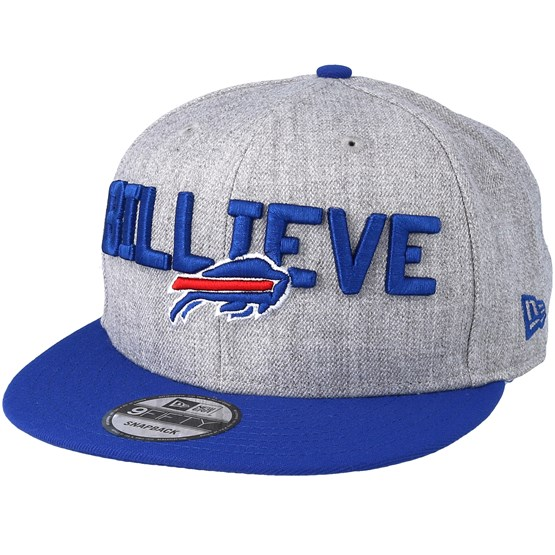 info for 84a07 1c878 Buffalo Bills 2018 NFL Draft On-Stage Grey Blue Snapback - New Era caps -  Hatstoreworld.com
