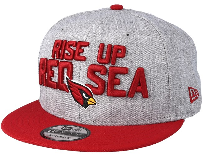 separation shoes 880d4 5c5e0 Arizona Cardinals 2018 NFL Draft On-Stage Grey Red Snapback - New Era