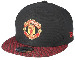 Manchester United Hex Weave Vize 9Fifty Black Snapback - New Era