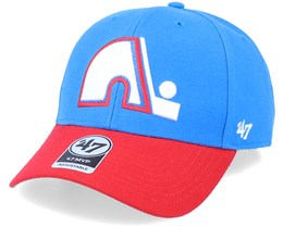 Quebec Nordiques Mvp Two Tone Vintage Blue Raz/Red Adjustable - 47 Brand