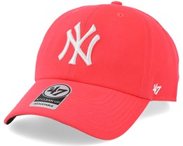New York Yankees Neon Clean Up Pink/White Adjustable - 47 Brand