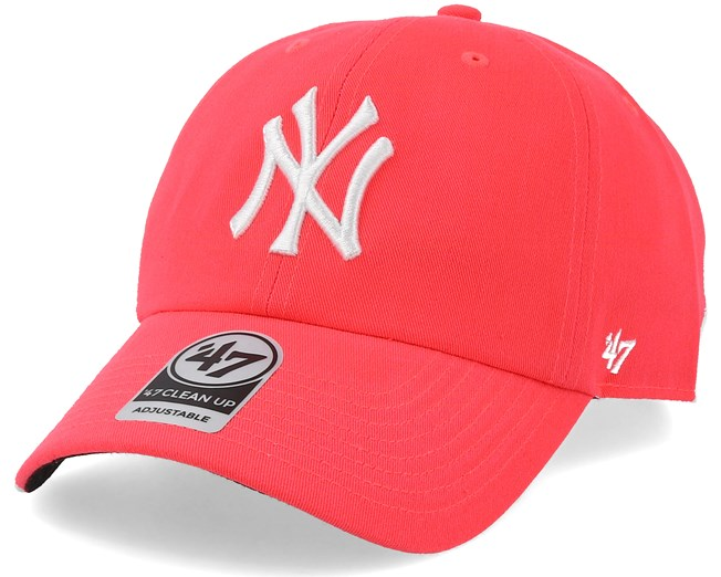 dce60014b8e New York Yankees Neon Clean Up Pink White Adjustable - 47 Brand cap -  Hatstore.co.in