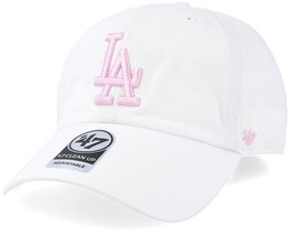 Los Angeles Dodgers Clean Up White/Pink Adjustable - 47 Brand