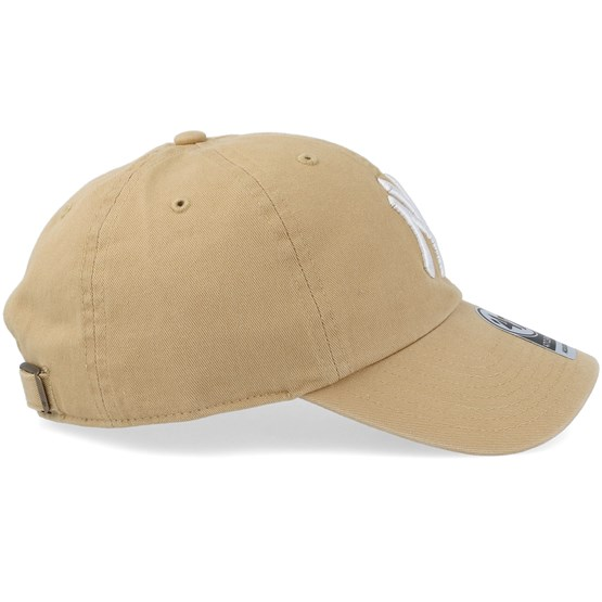 New York Yankees Clean Up Tan Adjustable - 47 Brand caps - Hatstoreworld.com eee065ba3