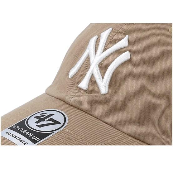 ffbe7df81 New York Yankees Clean Up Khaki/White Adjustable - 47 Brand