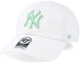 New York Yankees Clean Up White/Hemlock Adjustable - 47 Brand