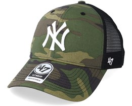 New York Yankees Branson 47 Mvp Camo Black Trucker - 47 Brand 26c8d7cef6a