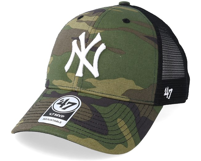 61c1ee5e6 New York Yankees Branson 47 Mvp Camo/Black Trucker - 47 Brand caps ...