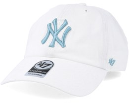 bc43df4ad41 New York Yankees Clean Up White Mako Adjustable - 47 Brand