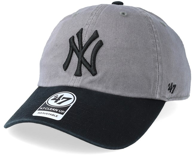 New York Yankees Clean Up Two Tone Dark Grey Black Adjustable - 47 Brand  caps - Hatstorecanada.com 4baf31ffc0d
