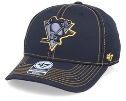Pittsburgh Penguins Stronaut Contender Mesh Black/Tellow Flexfit - 47 Brand