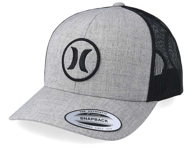 a9e89772288a5 Oceanside Heather Grey Black Trucker - Hurley caps - Hatstoreworld.com