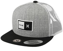 Kids Natural Heather Grey/Black Trucker - Hurley