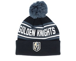 Vegas Golden Knights Jacquard cuffed knit Black/Charcoal Pom - Outerstuff