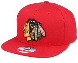 Kids Chicago Blackhawks Solid Red Snapback - Outerstuff