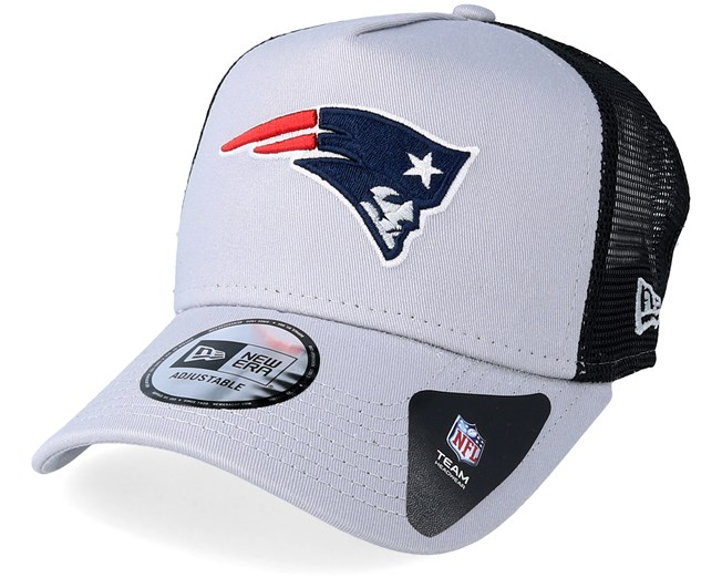 New England Patriots Team Essential Grey Trucker - New Era caps -  Hatstoreworld.com 717bb41a18b3