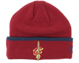 Cleveland Cavaliers Team Knit Maroon Cuff - New Era