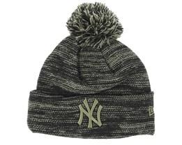 New York Yankees Marl Knit Grey/Black Beanie - New Era