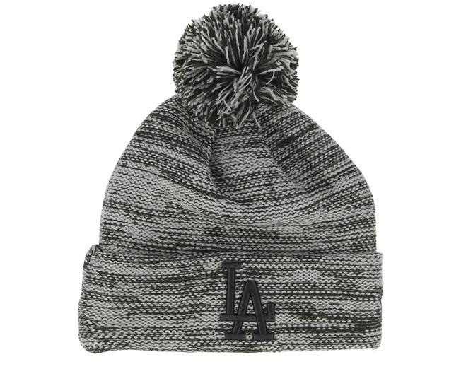 a0c8f69ca5524 Kids Los Angeles Dodgers Marl Knit Grey/Black Pom - New Era beanies -  Hatstoreworld.com