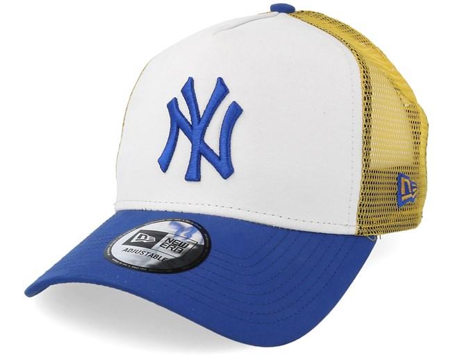 New York Yankees Light Weight Nylon White Yellow Blue Trucker - New Era  lippis - Hatstore.fi 21b98fce65
