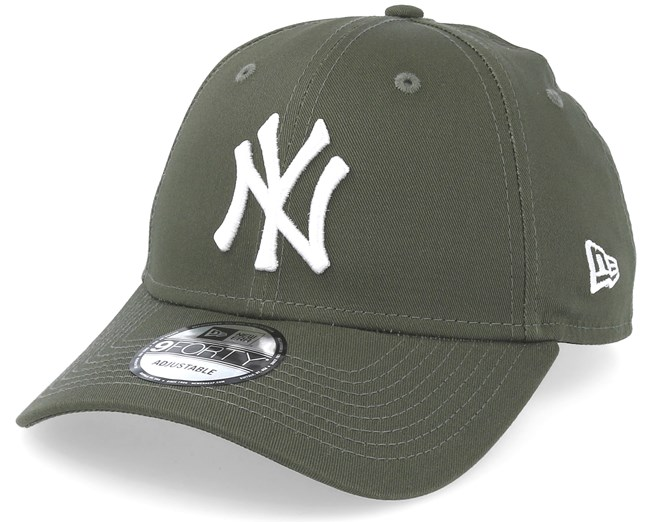New York Yankees League Essential 9Forty Olive White Adjustable - New Era -  Bearded Man Apparel - Hatstore.es b7b074d922f