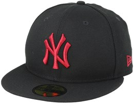 New York Yankees 59Fifty League Essential Black/Cardinal Fitted - New Era