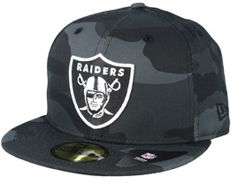 Oakland Raiders Essential 59Fifty Charcoal Camo Fitted - New Era